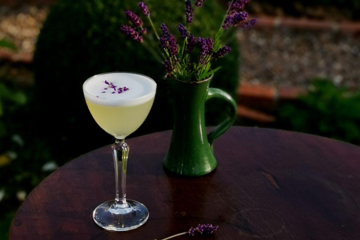 alcohol free cocktail. lavender