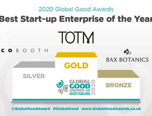 Celebrating the Global Good Awards and a medal for Bax Botanics.