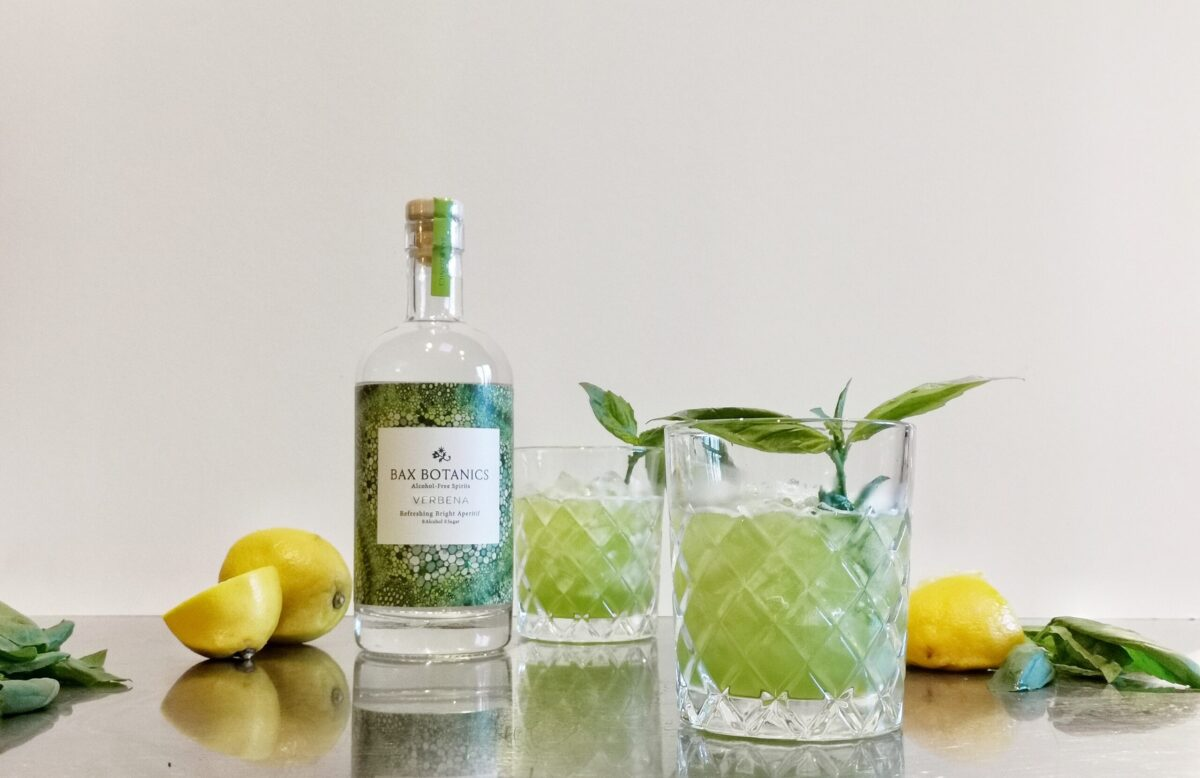 Alcohol free cocktail. Basil verbena