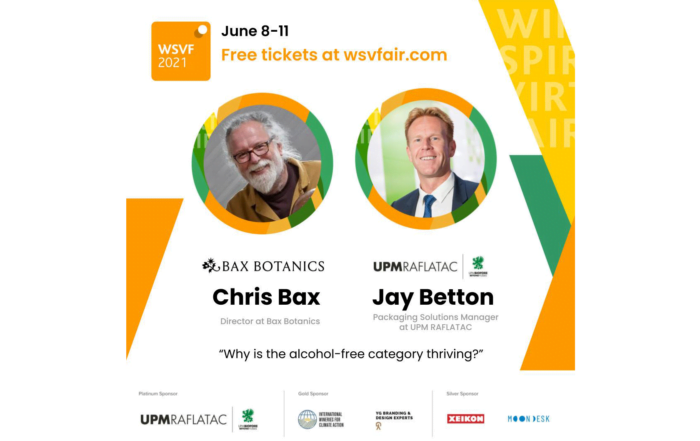Chris Bax and Jay Betton on a image for a non-alcoholic webinar