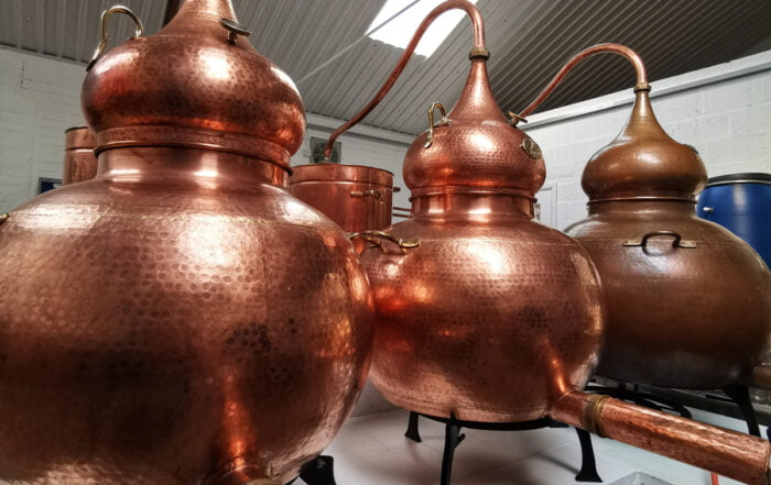 Copper Stills at Bax Botanics